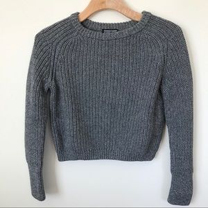 NWOT American apparel cropped fisherman pullover